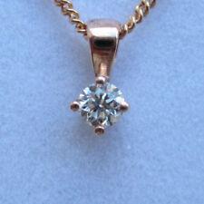 Natural Rose Gold I1 Fine Diamond Necklaces & Pendants