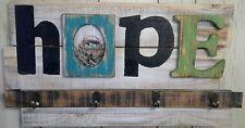 Studio Decor coat rack picture frame 'HOPE' wooden vintage style Savannah 12x22