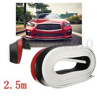 8 feet Car Front PU Bumper Lip Splitter Chin Spoiler Skirt Protector Body Trim