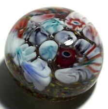 Mystery Millefiori Scramble Paperweight with Character Canes from Unknown Maker