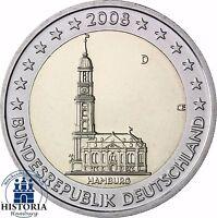 Deutschland 2 Euro Bundesländer Serie - Hamburger Michel 2008 bankfrisch Mzz D