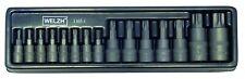 Torx socket set 1/4, 3/8, 1/2 drive 15 piece sizes T6 - T70 Welzh 1165-1-WW