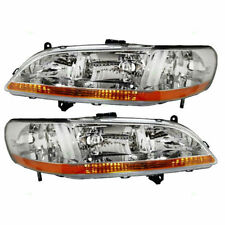 2001 2002 HONDA ACCORD SEDAN/COUPE HEADLIGHT LAMP LIGHT SET RIGHT AND LEFT PAIR