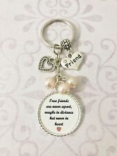 True Friends Gift Present Keyring Bag Charm Beads Special Keepsake