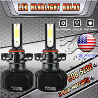 5202 2504 9009 H16 LED Fog Light Bulb 1500W 225000LM Headlight Kit 6000K Fanless