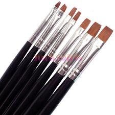7Pcs Uv Acrylic Nail Art Pen Tips Builder Gel Painting Brush Manicure Set Hot