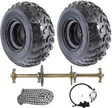 "32"" Go Kart Rear Live Axle Kit Brake Disc Caliper Sprocket Wheels Quad Buggy ATV"