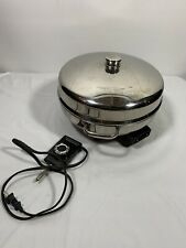 "12"" Farberware Electric 1650W Skillet Fry Pan Dome Lid Stainless Steel 344A"