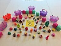 Shopkins Cases Baskets Bins Figures Huge Lot #5   FREE SHIPPING  SKU 036-47