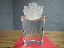 Glass/ Crystal Collectible McDonalds French Fry Art Piece With Box! Rare! NOS!