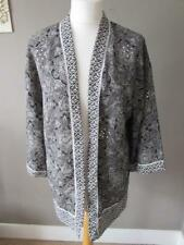 GEORGE Ladies Black White Floral Kimono Style Thin Jacket Top Cover Up Size 8/10
