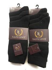 Algodón Hombre Socks-Gents Diseñador Sock-Heel y Toe-Argyle-Stripe Sock-Black