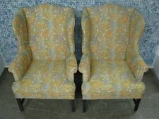 "PAIR 1960's Kittinger Furntirue ""Old Dominion"" Wing Back Chairs; Original & Mint"