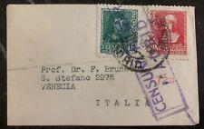 1940 Madrid Spain Civil War Mini Cover To Venezia Italy