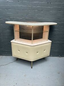 STUNNING Mid Century Vintage Retro 50s 60s Cocktail Drinks Home Bar Cabinet Unit