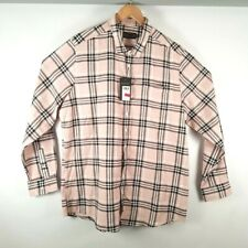 LABEL J LONG SLEEVE CHECK SHIRT LONG PINK SIZE 2XL 48/50 BNWT