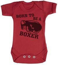 Born To Be A Boxer Baby Bodysuit / Babygrow