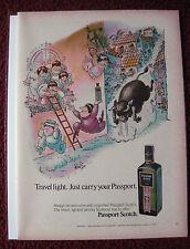 1972 Print Ad Passport Scotch Al Jaffe Cartoon Art Page ~ Running of the Bulls