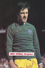 CALCIO FOTO > Eric Steele Brighton & Hove Albion 1970s