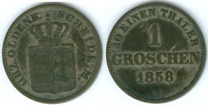 Oldenburg  1 Groschen 1858  gutes vorzüglich