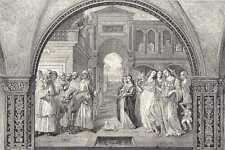Antique print fresco Abbey Monte Oliveto Maggiore 1885