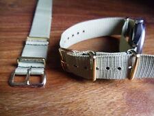 Mercian Regt  buff colour G1098 watch strap, Gilt fittings, British Army