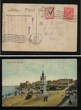 Great Britain post card to France 1922 postage due Al0510