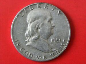 1951-US SILVER HALF DOLLAR..235
