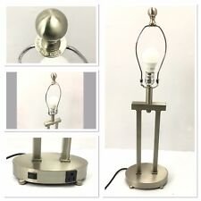 """Uttermost Modern Brushed Aluminum Accent / Table Lamp w/ Auxiliary Outlet 28"""""""