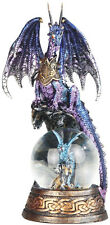 COMRADES  Blue Dragon on Snow Globe - Dragon  Statue figurine  H7.88""