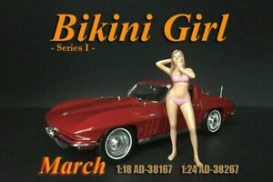 BIKINI GIRL MARCH AMERICAN DIORAMA 38167 1/18 DIECAST CAR