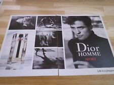 ROBERT PATTINSON - Publicité de magazine / Advert DIOR HOMME SPORT !!!!!!!!!!!