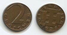G4221 - Österreich 2 Groschen 1937 KM#2837 Erhaltung 1.Republik 1918-1938