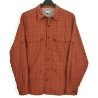 The North Face Vented Shirt Mens Sz Medium Plaid Check Long Sleeve Button Front