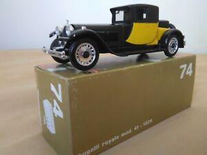 Antigua miniatura 1:43 Rio 74 Bugatti Royale mod. 41 de 1929. Made in Italy.