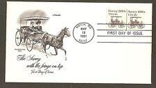 #1907 18c Surrey 1890s - Artmaster FDCP#5 Coil Line Pair