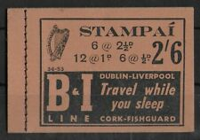 IRELAND 1951-1953 Mint NH Booklet Pane 2/- Black on Buff SG #SB9 VF