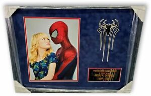 Andrew Garfield Emma Stone Dual Autographed 11X14 Photo Spider-Man Framed GV