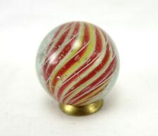 """MARBLES ANTIQUE 1"""" HANDMADE CANDY STRIPE SOLID CORE GERMAN SWIRL POLISHED MINT!!"""