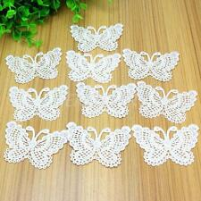 10Pcs Vintage Butterfly White Lace Appliques Sewing Patch For Purse Bag Decor
