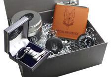 SAS Luxury Gift Hamper Pocket Watch Hip Flask Engraved Army Boot Personalised
