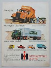 1959 International Trucks Cement Mixer 18 Wheeler Pick Up Vtg Magazine Print Ad