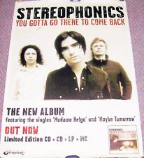 "STEREOPHONICS REC COM PROMO POSTER ""YOU GOTTA GO THERE TO COME BACK"" ALBUM 2003"