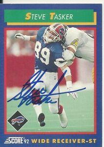 Steve Tasker Buffalo Bills/ Northwestern Personally Autographed Card
