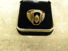 Vintage 1947 class ring 10kt rose gold size 8 3/4