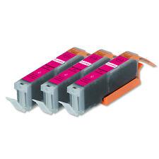 3 MAGENTA Printer Ink + smart chip for Canon CLI-251 MG7120 MG7520 MG6620 MG5622