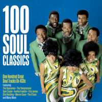 100 SOUL CLASSICS - SUPREMES TEMPTATIONS SAM COOKE ETTA JAMES - 4 CDS - NEW!!