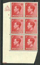 1936, Sg458, P2, 1d Scarlet, A36 / 3 dot, Mm, (01779)