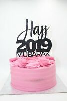 Hajj Mubarak 2019 Black Glitter Card Cake Topper, Haj Cake Decorations