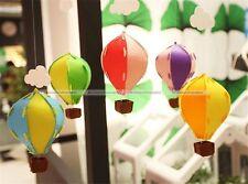 5Pcs 3D Clouds Ballon DIY Felt Ornaments Party Home Decoration Garland S3